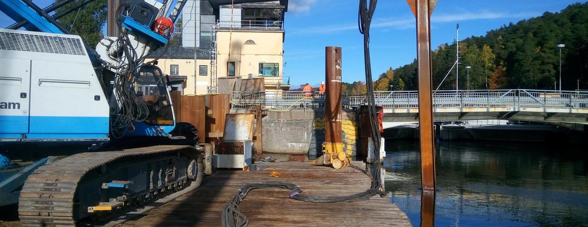 Pile drivers operator for Ballast Nedam 2017 Sweden